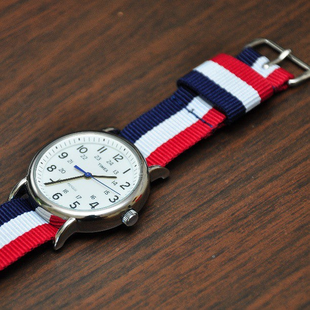 Original NATO Strap Red, White and Navy - Cheapest NATO Straps  - 4