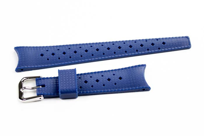 Curved End Tropic Strap Navy