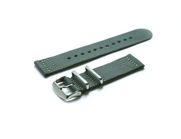 Two Piece NATO Strap Gray (18 & 20 mm)