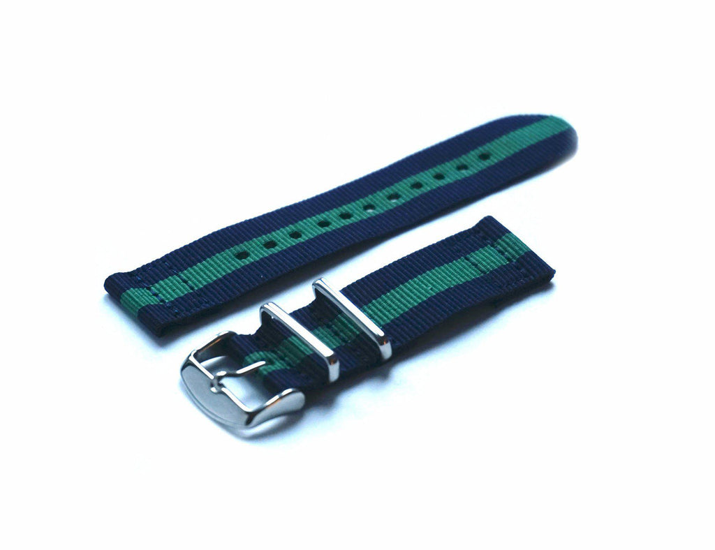 Two Piece NATO Strap Navy and Green - Cheapest NATO Straps  - 1