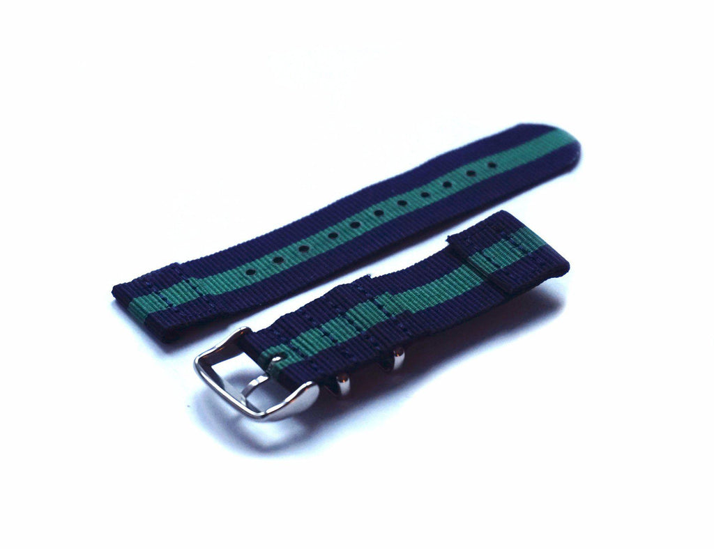 Two Piece NATO Strap Navy and Green - Cheapest NATO Straps  - 2