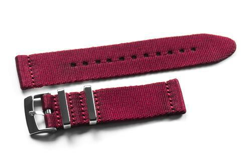 Two Piece Seatbelt Burgundy (18, 20 & 22 mm)