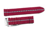 Two Piece Seatbelt Burgundy and Gray (18, 20 & 22 mm)