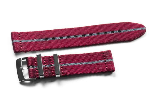 Two Piece Seatbelt Burgundy and Gray