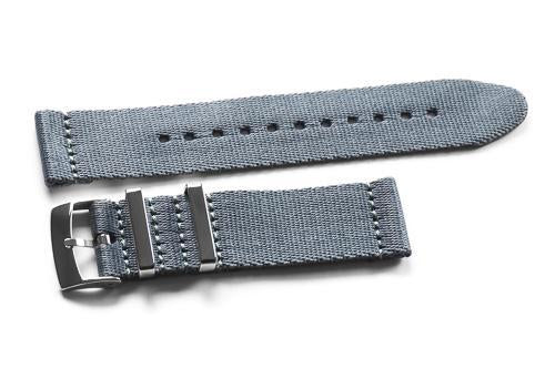 Two Piece Seatbelt Gray (18, 20 & 22 mm)