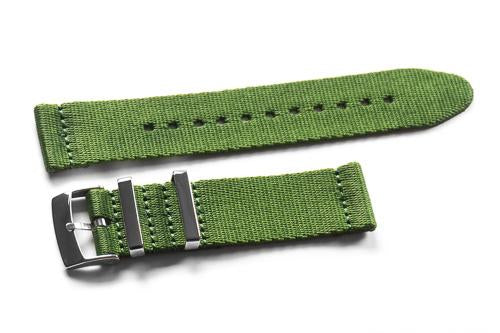 Two Piece Seatbelt Khaki Green (18, 20 & 22 mm)