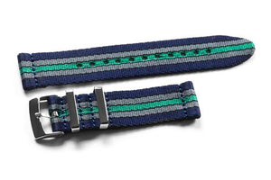 Two Piece Seatbelt Navy Baron (20 & 22 mm)