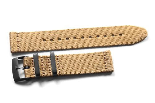 Two Piece Seatbelt PVD Khaki (20 & 22 mm)