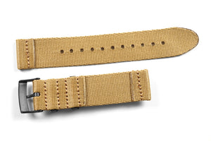 Two Piece Seatbelt PVD Khaki