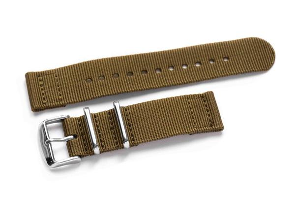 Two Piece NATO Strap Khaki (18 mm)