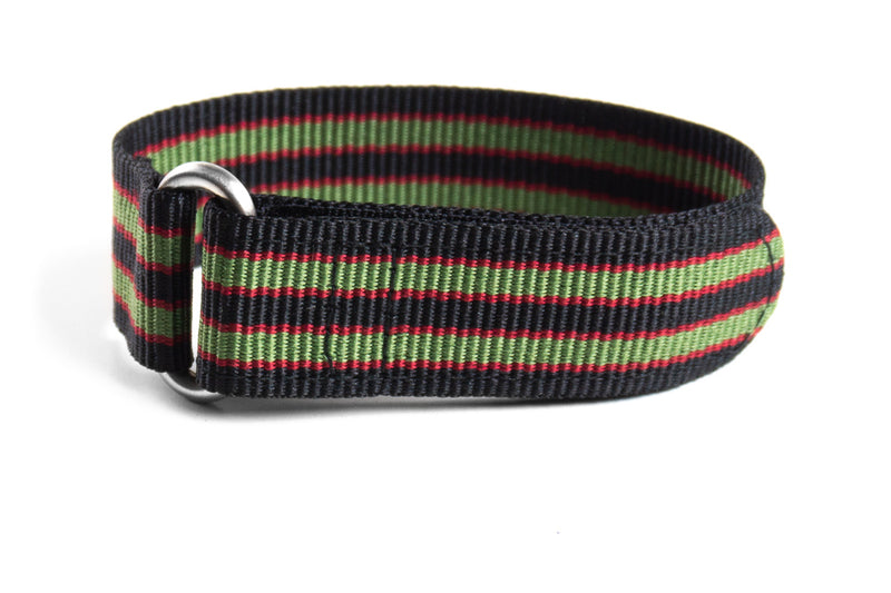 Velcro Diver Black, Burgundy and Green