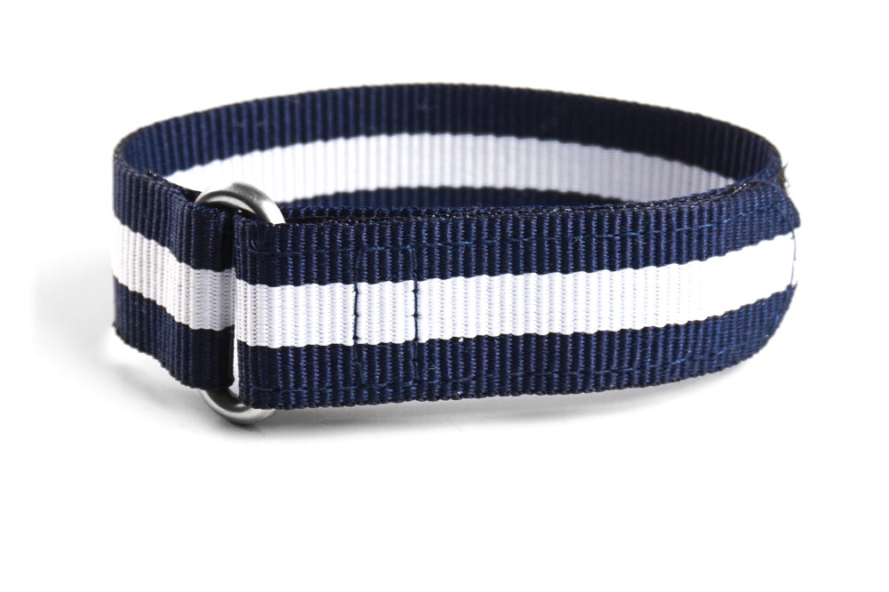 Velcro Diver Navy and White