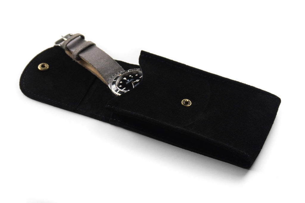 Watch Pouch Black Suede