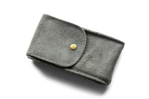 Watch Pouch Gray Suede