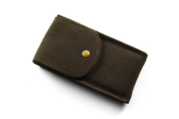 Watch Pouch Khaki green Suede