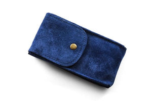 Watch Pouch Navy Suede