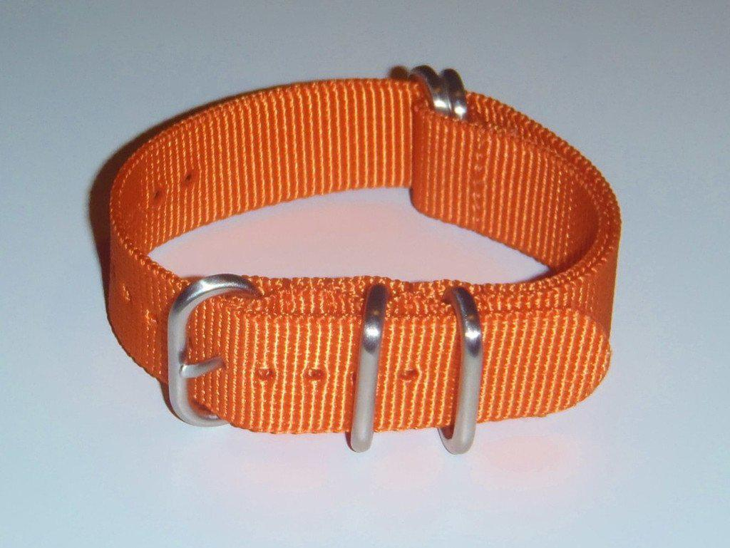 Extra Long Zulu strap SS 5-ring Orange - Cheapest NATO Straps  - 2