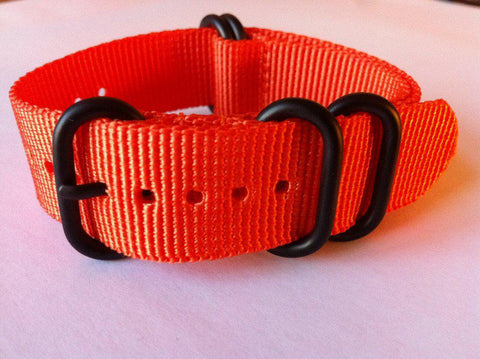 Extra Long PVD Zulu Strap 5-ring Orange - Cheapest NATO Straps  - 3