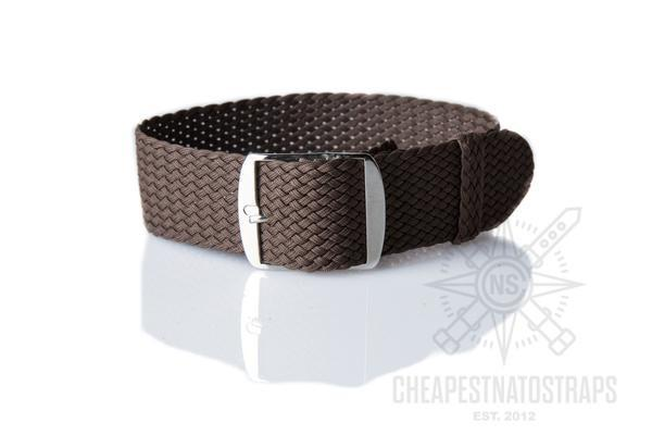 Perlon strap brown (18 & 20 mm)
