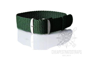 Perlon strap British racing green