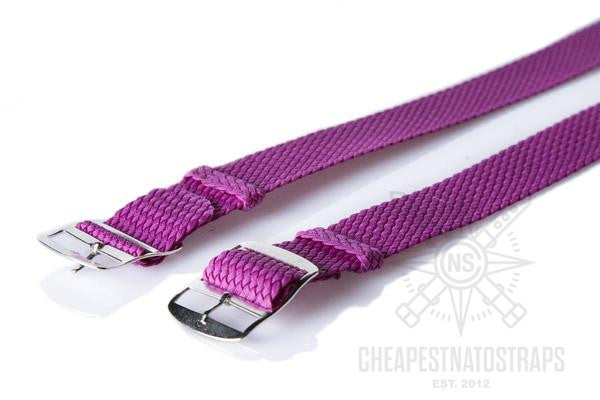 Adjustable Perlon strap purple