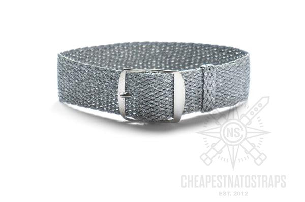 Adjustable Perlon strap Silver