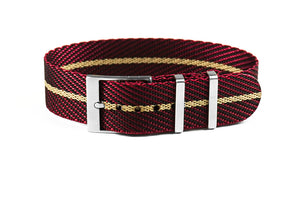 Adjustable Single Pass Strap Burgundy and Barley