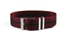 Adjustable Single Pass Strap Burgundy and Black