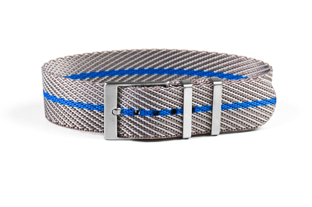 Adjustable Single Pass Strap Gray and Blue