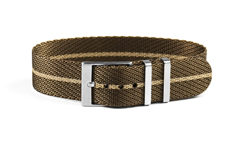 Adjustable Single Pass Strap Khaki and Barley