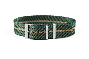 Adjustable Single Pass Strap Petrol and Barley