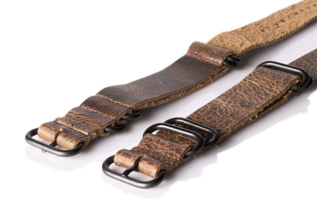 Leather PVD Zulu Strap Antique vintage - Cheapest NATO Straps  - 2