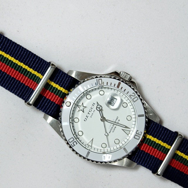 NATO Regimental Strap Blue, red, green and yellow - Cheapest NATO Straps  - 7