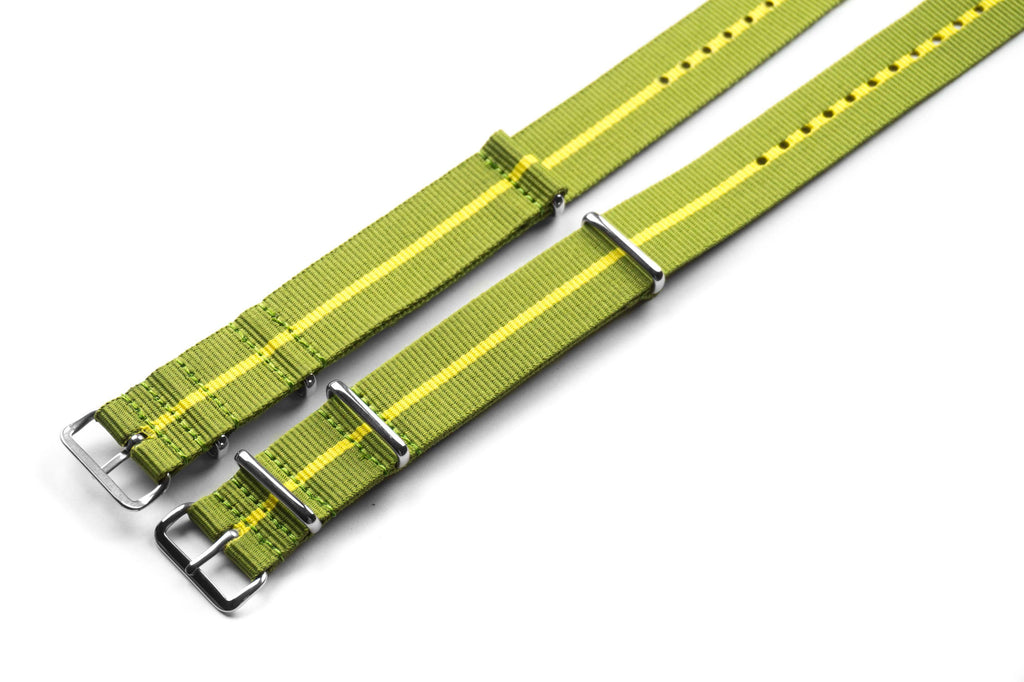 Premium NATO Strap Marine Nationale Yellow