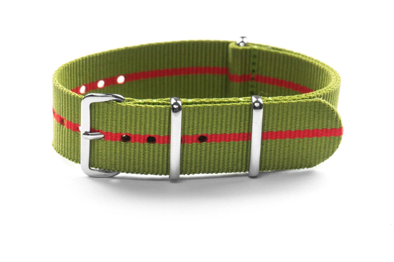 Premium NATO Strap Marine Nationale Red (18 & 22 mm)