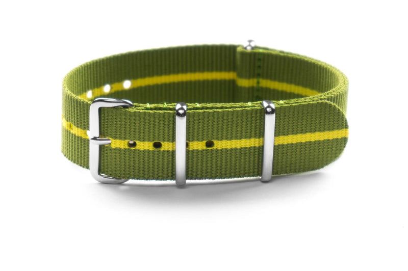 Premium NATO Strap Marine Nationale Yellow (18 & 22 mm)