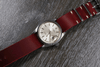 Single Pass Leather Strap Vintage Burgundy (24 mm)