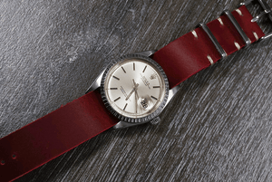 Single Pass Leather Strap Vintage Burgundy