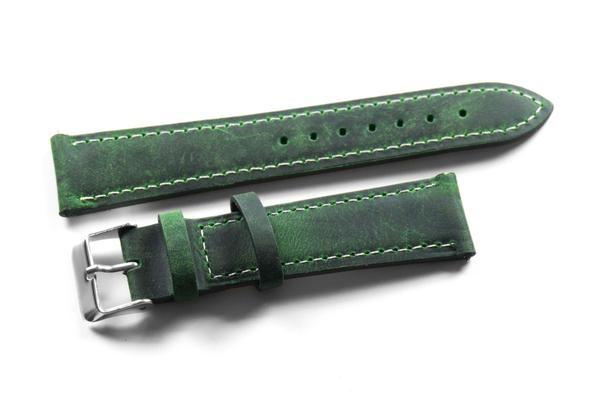 Classic British Racing Green with white stitching