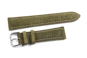 Classic Suede Moss Green with white stitching
