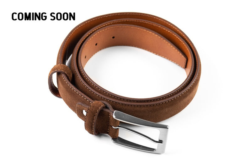 Suede Belt Chocolate Brown
