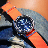 NATO Strap Solid Neon Orange