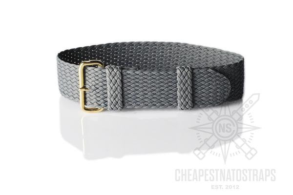 Gold Perlon strap dark gray