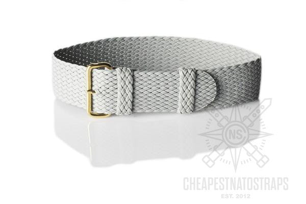 Gold Perlon strap gray