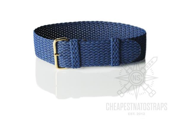 Gold Perlon strap navy blue