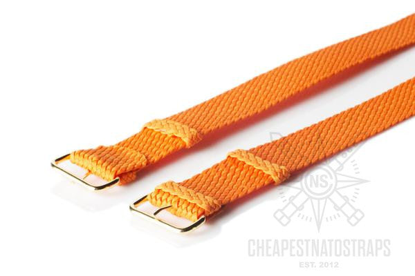 Gold Perlon strap orange