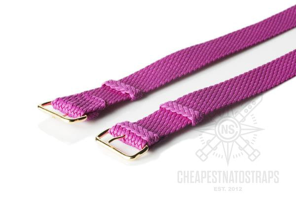 Gold Perlon strap purple