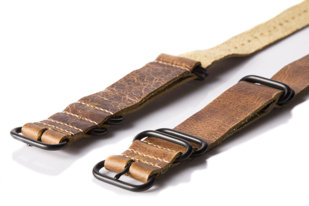 Leather PVD Zulu Strap Heritage - Cheapest NATO Straps  - 2