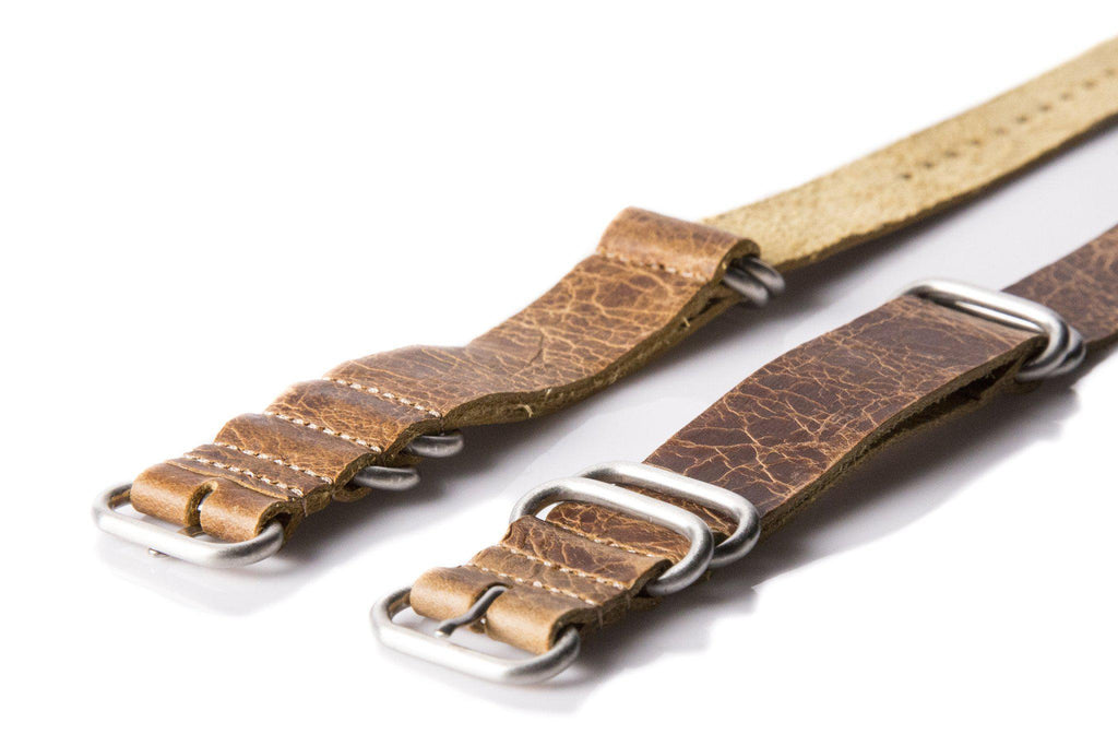Leather SS Zulu Strap Heritage - Cheapest NATO Straps  - 2