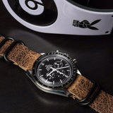 Leather PVD Zulu Strap Antique vintage (20 mm)